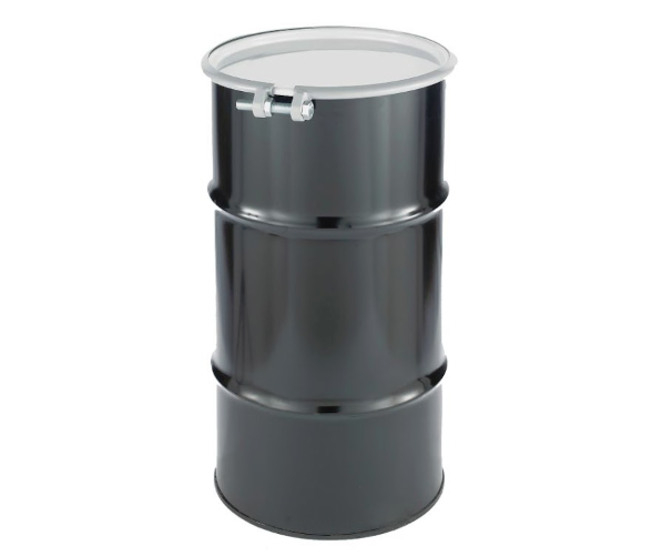 16 Gallon Black Open Head Steel Drum  Model #CQ1602
