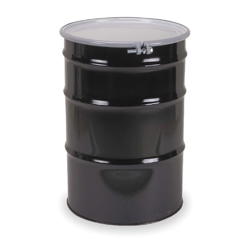 55 Gallon Black Open Head Steel Drum  Model #CQ5508