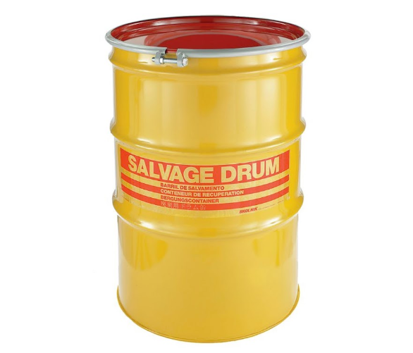 110 Gallon Steel Salvage Drum Model #HM11001
