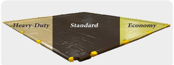 SpillNest Berm with Removable Sidewalls, Heavy Duty - 12'x30'x4.5