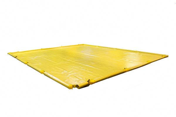 "SpillNest Berm with Removable Sidewalls, Economy - 24'x51'x4.5""-Yellow"