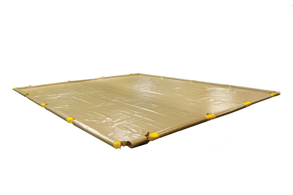 "SpillNest Berm with Removable Sidewalls, Heavy Duty - 48'x63'x4.5""-Tan"