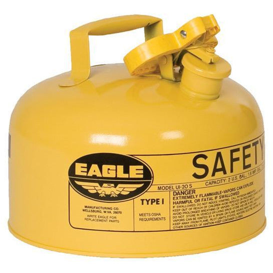 Type I Safety Cans- 2 Gal. Metal - Yellow (Diesel) - Safety Cans