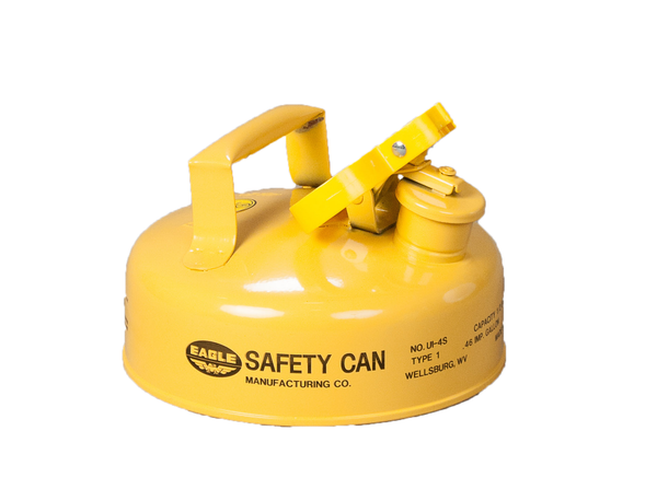 Type I Safety Cans - 2 Qt. Metal - Yellow (Diesel) - Safety Cans