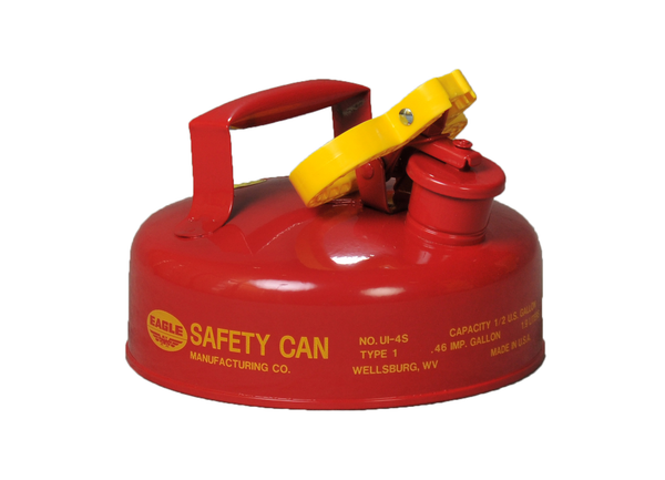 Type I Safety Cans - 2 Qt. Metal - Red - Safety Cans
