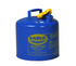 Type I Safety Cans - 5 Gal. Metal - Blue (Kerosene) - Safety Cans