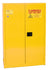 Safety Storage Cabinets Paint/Ink Aerosol Can 30 Gal. Yellow Two Door Manual Five Shelves