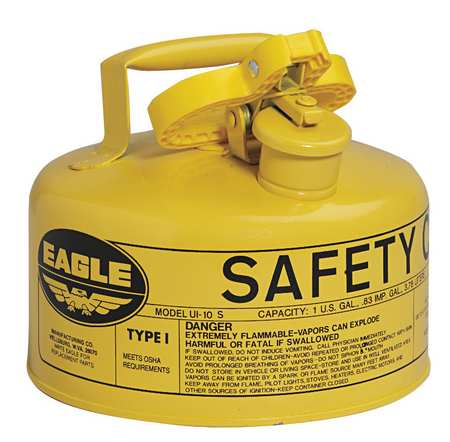 Type I Safety Cans - 1 Qt. Metal - Yellow (Diesel) - Safety Cans