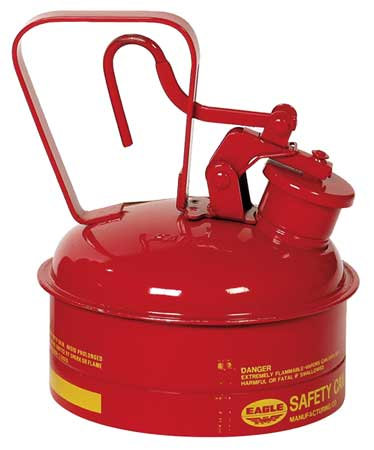 Type I Safety Cans - 1 Qt. Metal - Red - Safety Cans