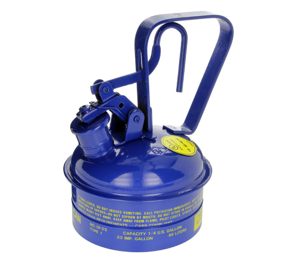 Type I Safety Cans - 1 Qt. Metal - Blue (Kerosene) - Safety Cans