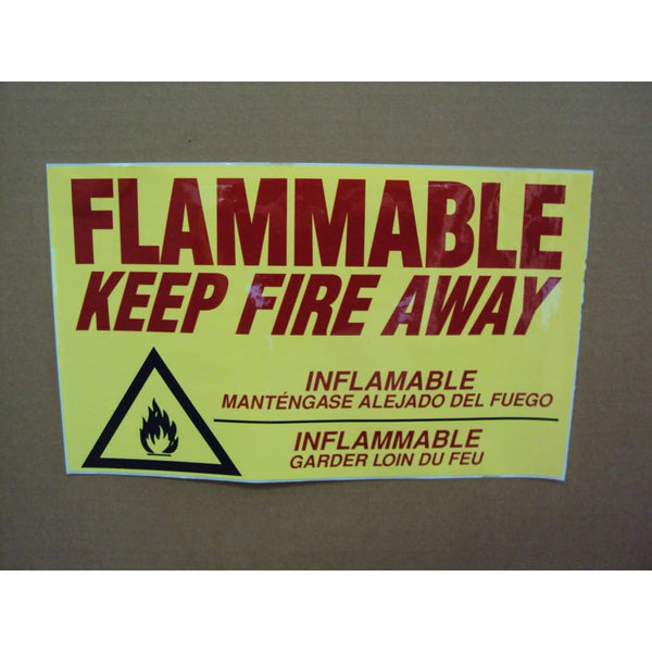Flammable Keep Fire Away - Cabinet Accessories Decal - Safety Cabinets