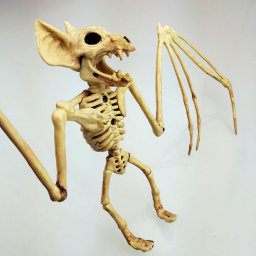 2018 Halloween Creepy Skeleton Bat Horror Bonez Halloween Scene Party Scary Decor Props