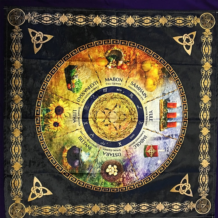 Soft Ceremony Astrology tablecloth altar wicca Tarot table cloth Divination Sabbats Board Game cards Accessories