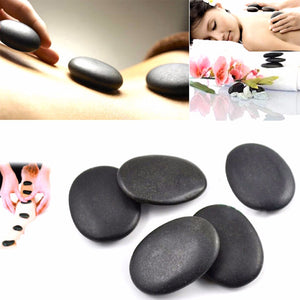 10 Pcs Lava Natural Energy Massage Stone Set Hot SPA Rocks Basalt Power Massage Stone Therapy Pain Relief Health Care Tool