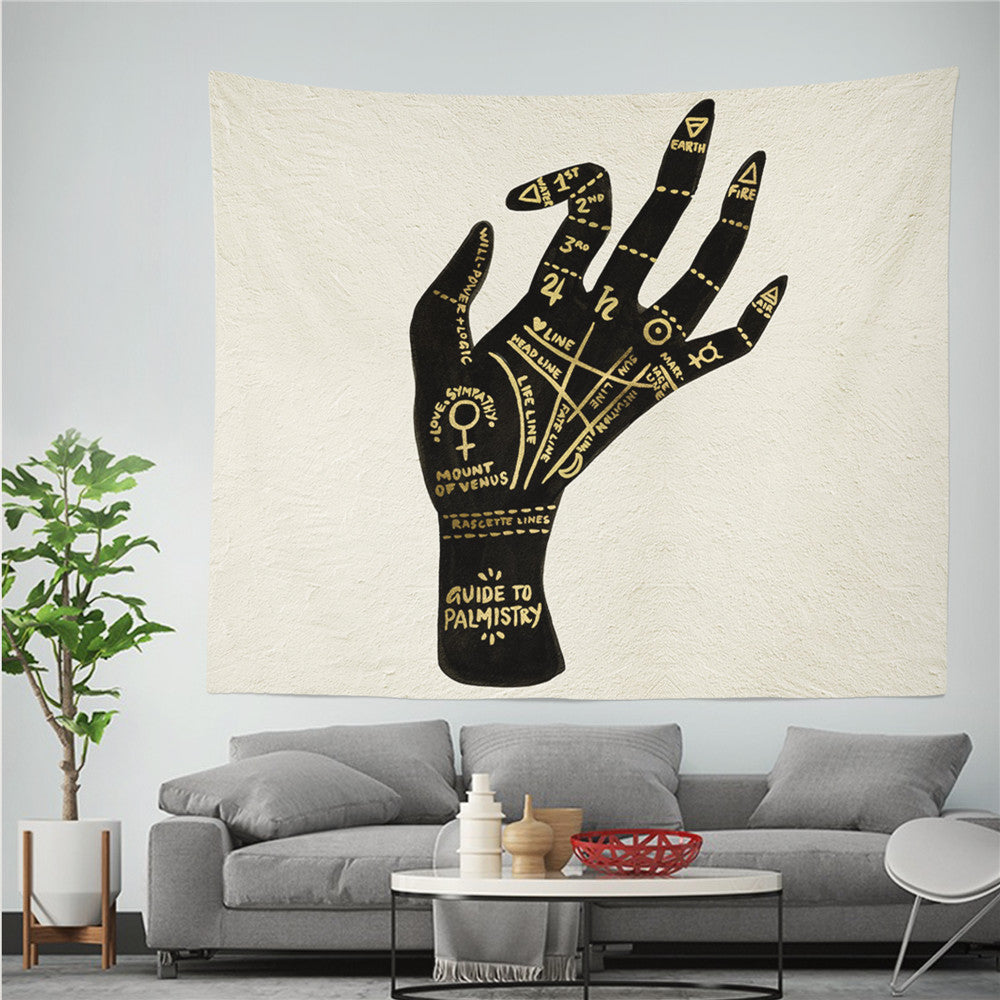 Witchcraft Divine Tapestry Wall Hanging Psychedelic Boho Decor Wall Cloth Tapestry Moon Witchcraft Supplies Wall Tapestry Carpet