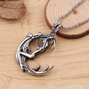 Moon Goddess Wicca Pentagram Magic Amulet Talisman Men Pendant Moon Necklace Women Tibetan Vintage Jewelry