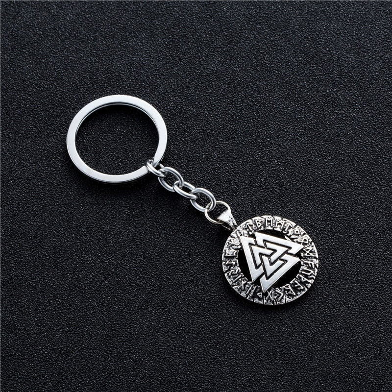 pagan amulet Men keyChain Scandinavian Viking jewelry Odin 's Symbol of Norse Viking Warrior Slavic Norway Valknut Car keyChains