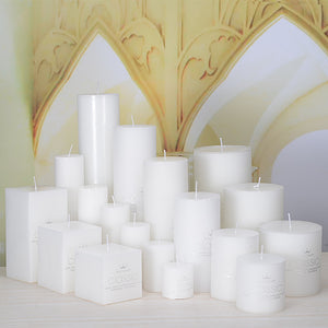 Classic Pure White Columns Christmas Candle Smokeless Smelless Small Romantic Wedding Dinner Candlelight Large Candles