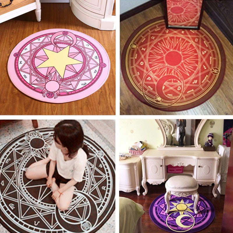 Fashion Magic Circle Puzzle Mats  Round Carpet Diameter 60-100cm