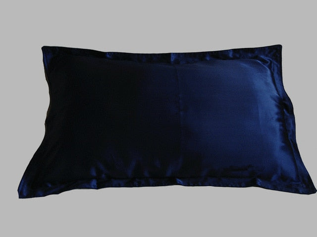 100% pure silk pillowcase oxford pillow case pillow standard queen king size dyed many colors