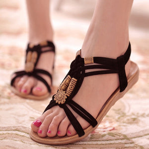 Women Sandals Fashion Summer Shoes Women Gladiator Sandals Summer Beach Shoes Female Ladies Sandals Zapatos Mujer Black