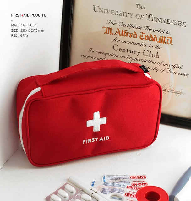 Portable First Aid Kit Creative Travel Accessories Emergency Drug Cotton Fabric First Aid Medicine Bag Pill Case Splitters Box