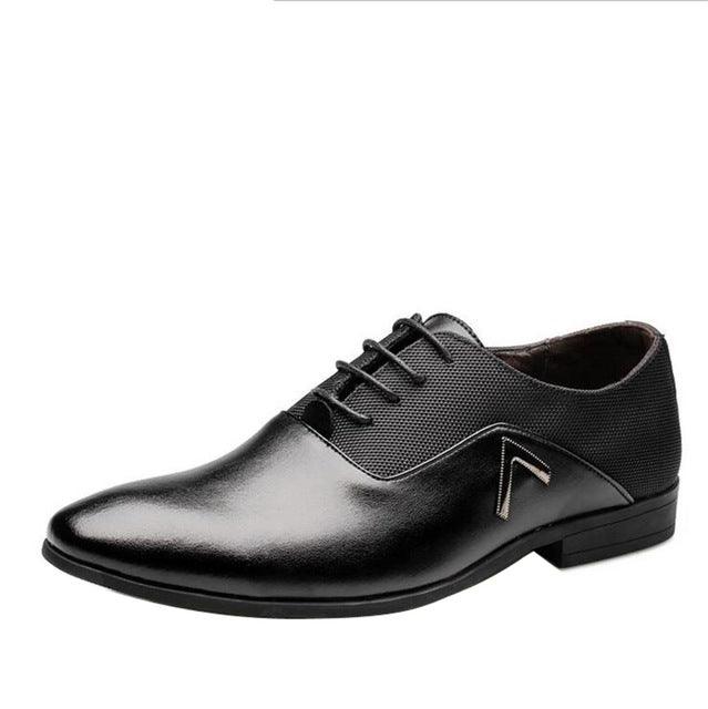 Spring New Brand Man Dress Shoes High Quality Genuine Leather Men Derby Shoes Solid Brogues Lace-Up Bullock Business Oxfords