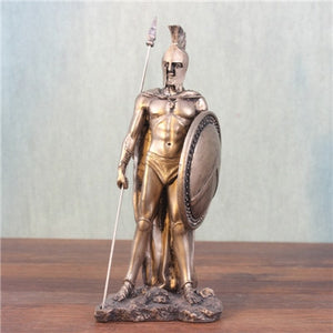 Medieval Vintage Resin Sculpture Knights Warrior Soldier Treasure Goddess Of Justice Venus Goddess God Classic Figurine Crafts