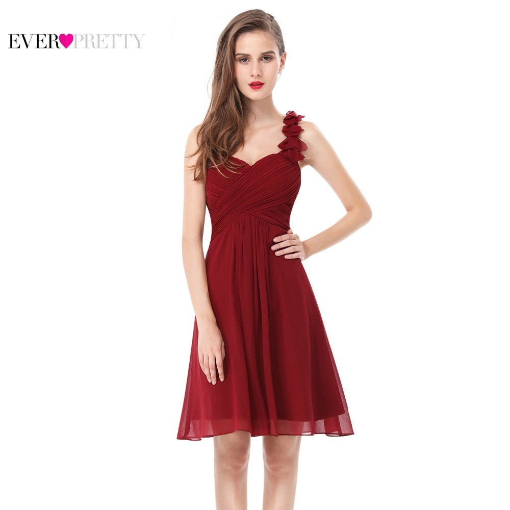 Cocktail Dresses Pink Chiffon Short Dresses Elegant Ever Pretty  Special Occasion Party Dresses