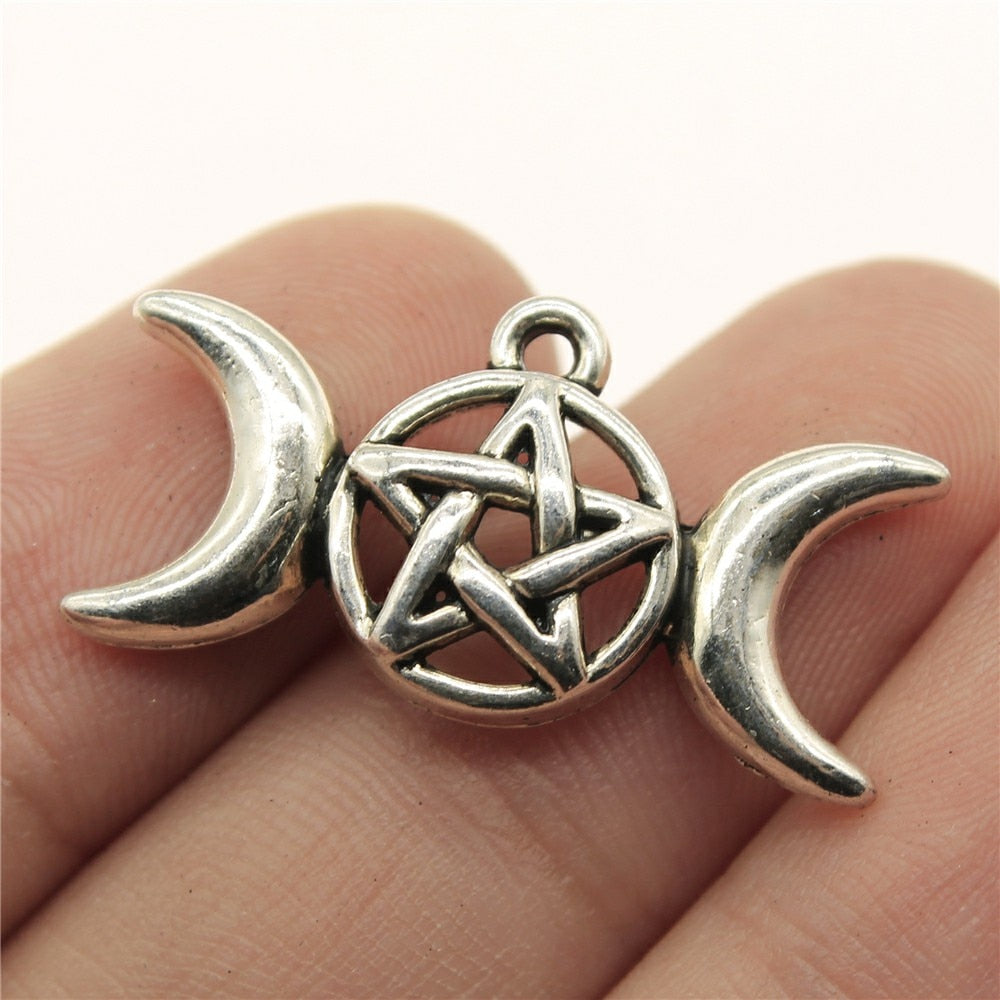8pcs 30x16mm Moon Goddess Star Charm Charms For Jewelry Making Antique Silver Moon Goddess Charms Moon Goddess Star
