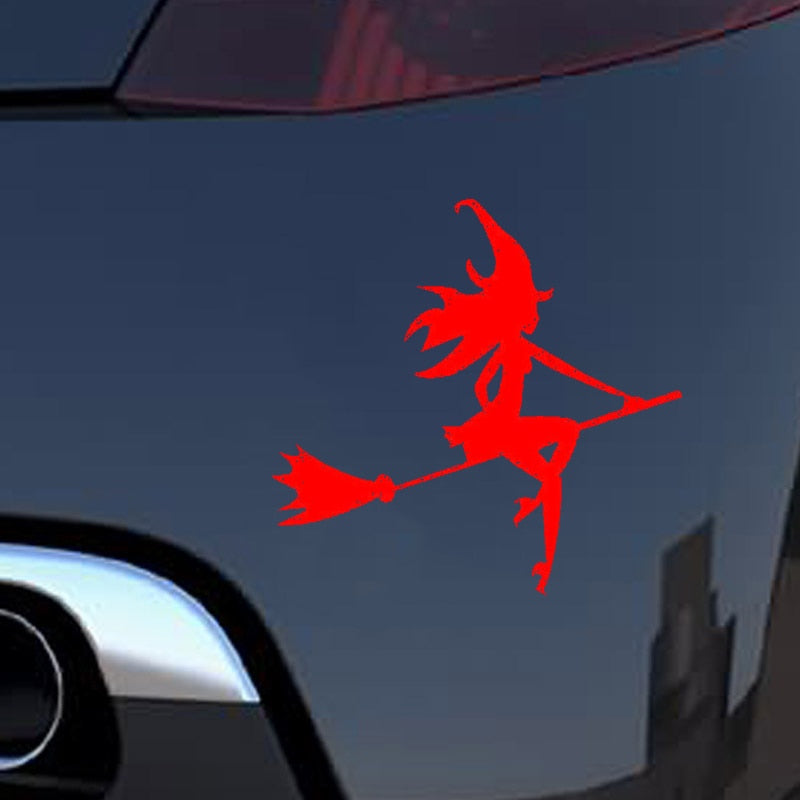 HotMeiNi Colors Car Sticker Jdm styling SEXY WITCH Window Bumper Vinyl Truck Body Decal Waterproof 13*12.5CM