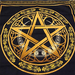 Altar Tarot Cloth For Board games tarot cards tablecloth Cotton and linen Wicca ceremony table cover blanket Pentagram Moon