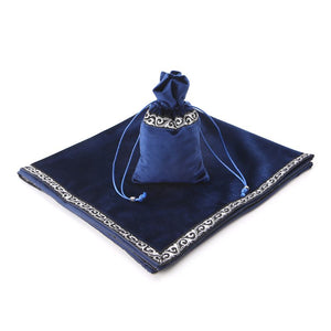 1Set Velvet Tarot Tablecloth Divination Altar Tarot Cards Bag Board Game Accessories