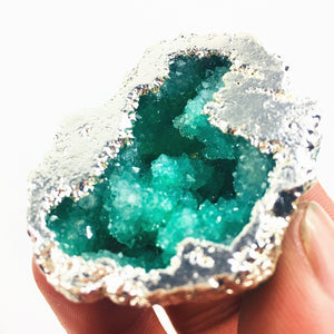 2 pcs High quality Tibetan quartz crystal geode exquisite mineral specimen witchcraft healing