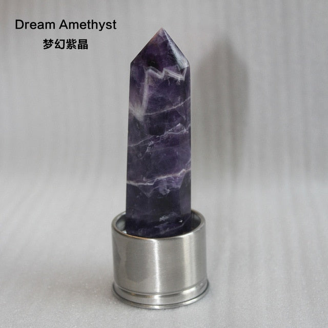 Natural Crystal Column Stone Quartz of Various Materials Magic wand heals energy stone