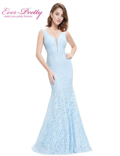 Lace Mermaid Prom Dresses Long 2019 Christmas Holiday Party Sexy V-Neck Elegant Prom Gala Dresses Gowns