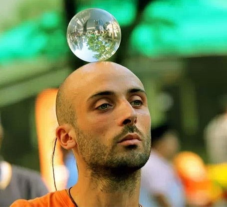 60/70/80/90/100 mm Contact Juggling Ball Magic Tricks Crystal Ultra Clear 100% Acrylic Ball Manipulation Juggling