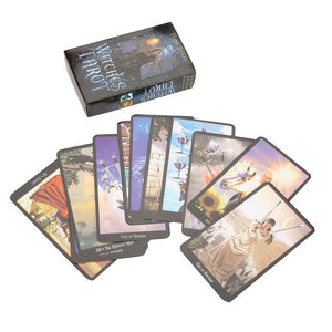 1 Box 78 Cards Witch Tarot Deck Future Fate Indicator Forecasting Cards Table Game