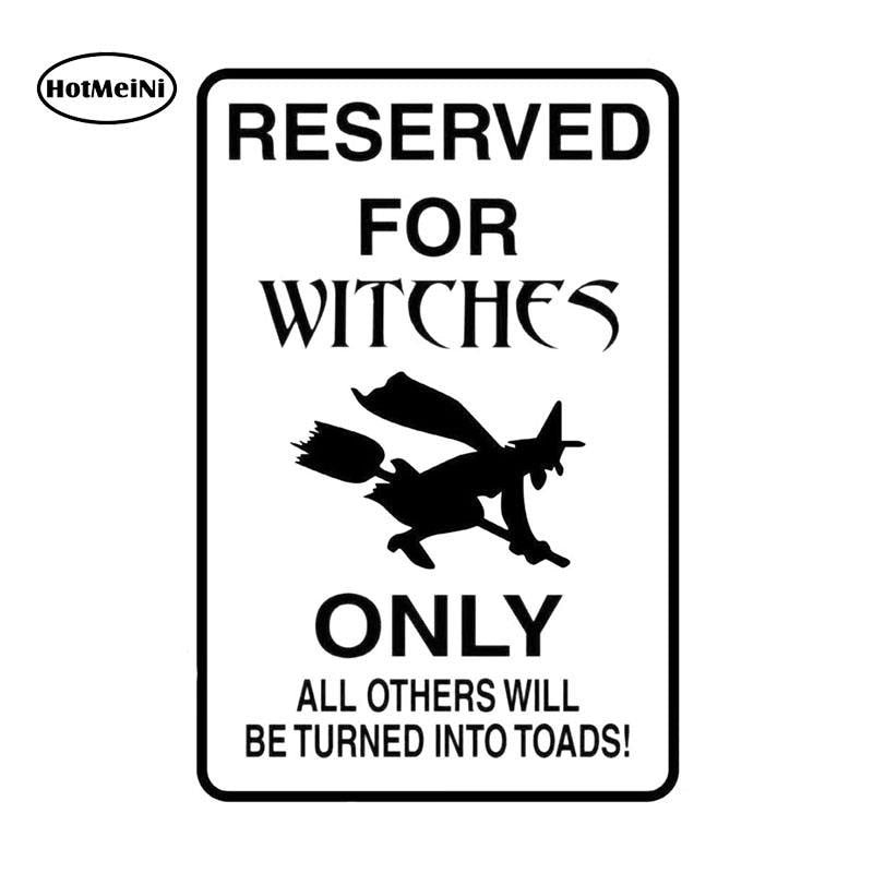 HotMeiNi RESERVED FOR WITCHES Fashion Car Sticker Black/Silver Vinyl Decal Car-styling For Car Window Bumper Laptop 10.2*16cm