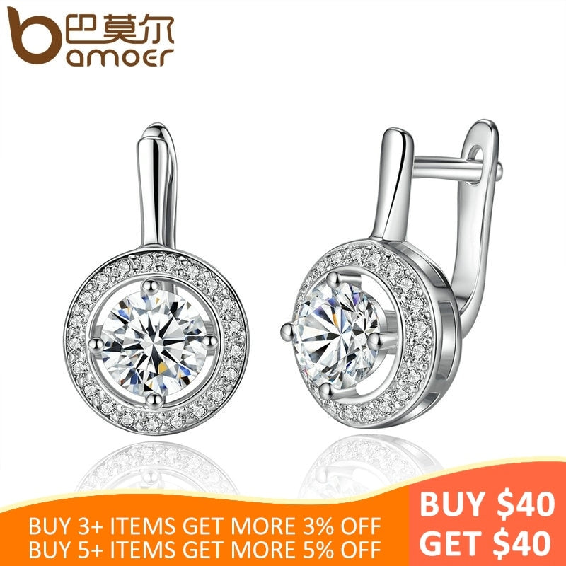New Arrival Silver Color Round Shape Full Of Love Dangle Earrings For Women Fashion Jewelry