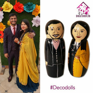 Decohub Wooden Handmade & Hand Crafted Peg Dolls (Set of 2) (COD NOT AVAILABLE FOR THIS PRODUCT