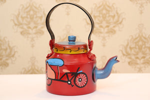 Rickshaw Painted Home Decor Kettle 1 Litre