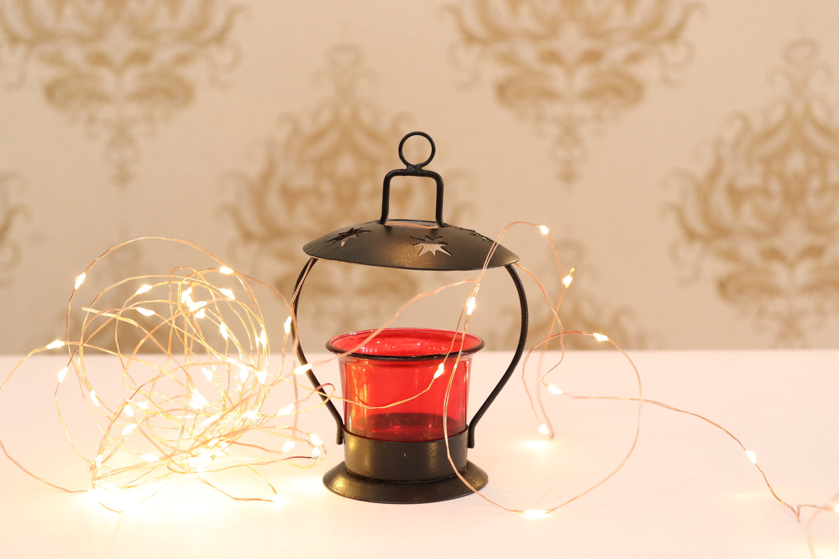 Metal and Glass tea light Holder |Decorative T-Lite Candle Holder