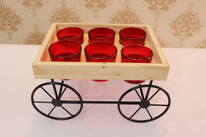 Thela Tray with short Glasses