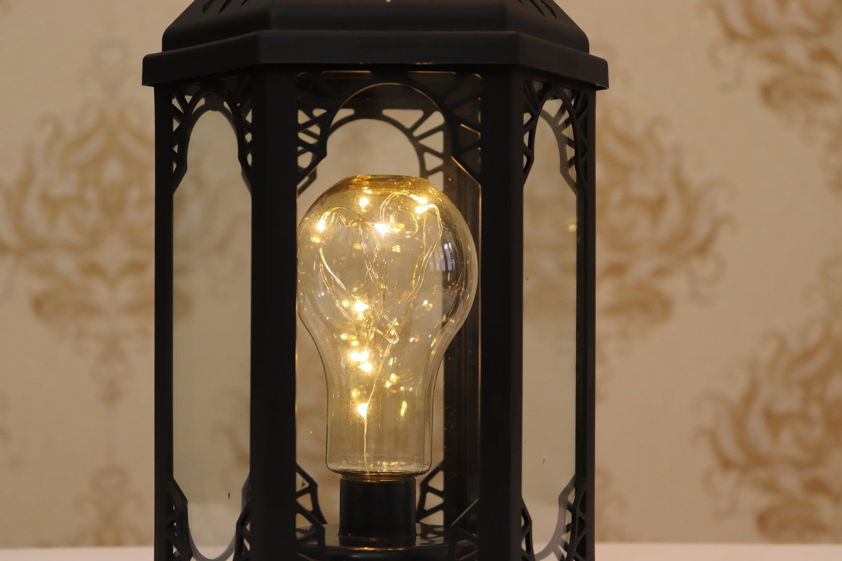 EUROPEAN HANGING LANTERN WITH FAIRY LIGHT BULB |