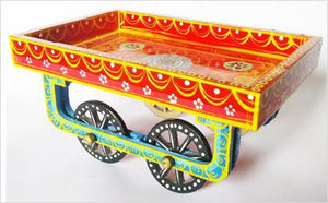 Wooden handpainted Thela Tray