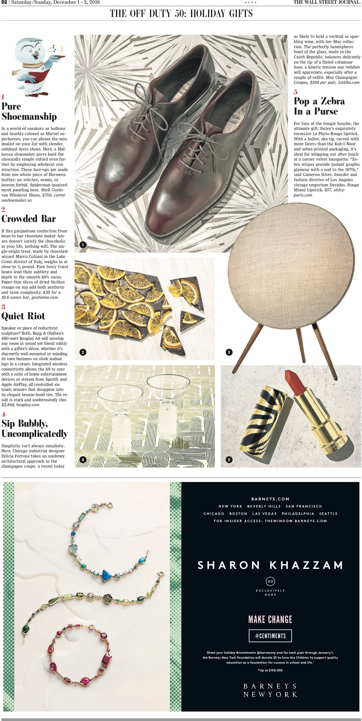 May Coupe gift guide wall street journal