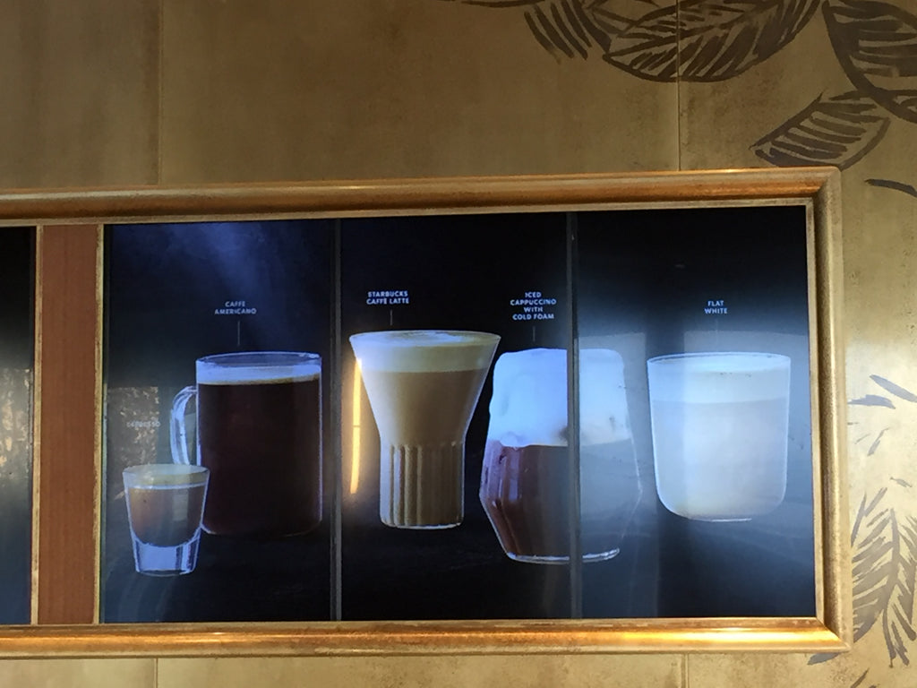 Starbucks Italy - menu board - rila glasses and Mixed glasses fferrone design