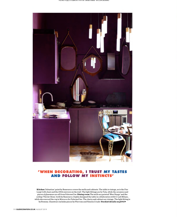 Elle Decor UK - August 2019 - fferrone and PalermoUno