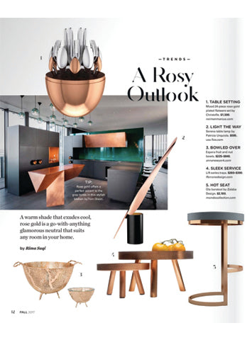 Elliman magazine and fferrone lift series - trays and tables